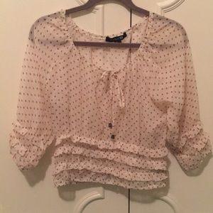 F21 Women's Polka pot blouse